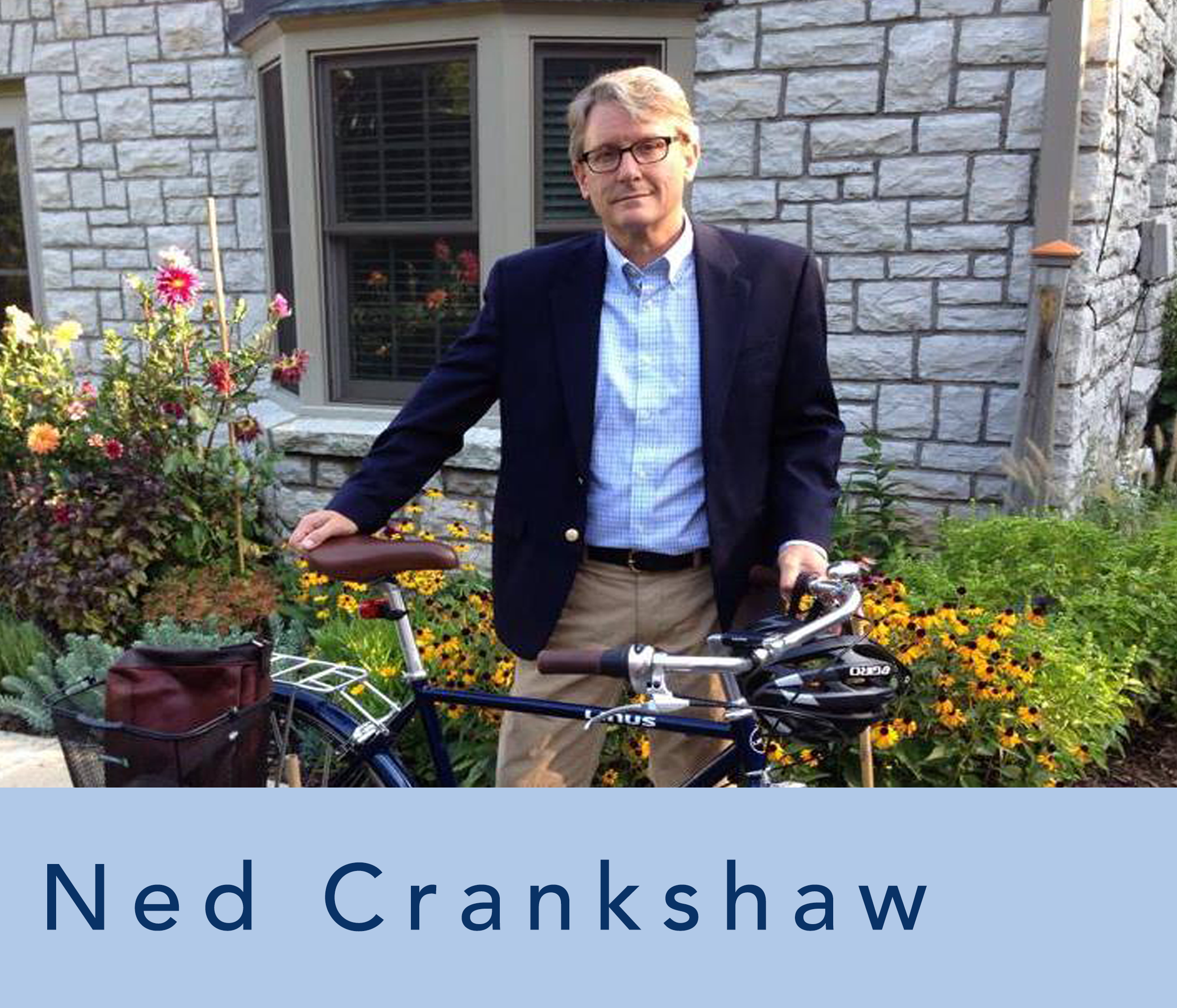 ned crankshaw with his bicycle